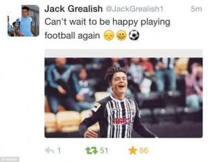 Grealish Tweet